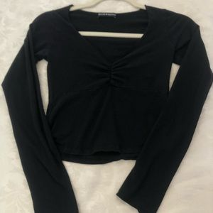 brandy melville black charlize top